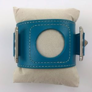 Apple Watch Leather Cuff Band 42 Mm Blue